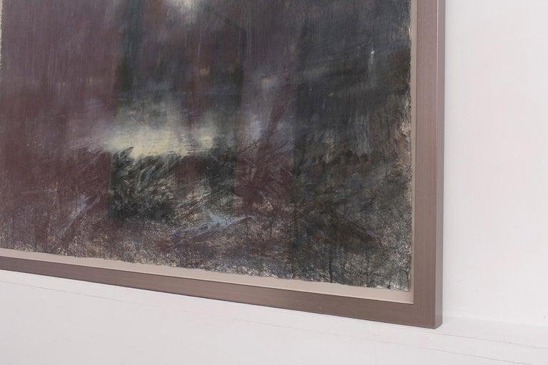 Forest Light (Contemporary Impressionist Landscape in Watercolor ) - Black Landscape Art by Susan Hope Fogel