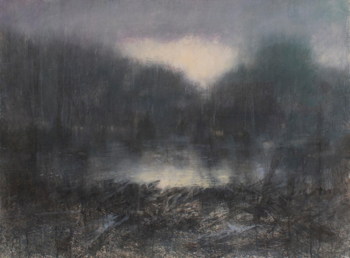 Forest Light (Contemporary Impressionist Landscape in Watercolor )