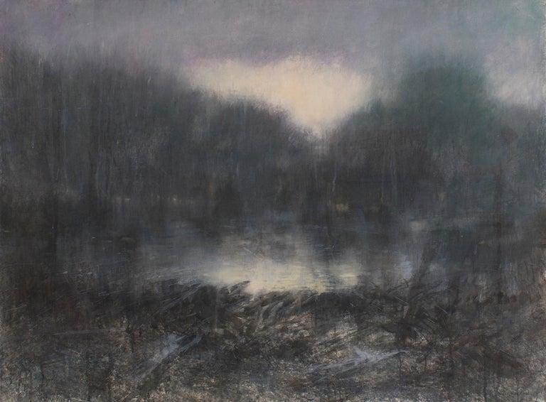 Susan Hope Fogel Landscape Art - Forest Light (Contemporary Impressionist Landscape in Watercolor )