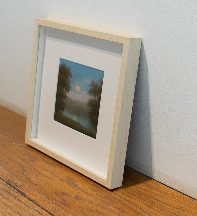 No 23:  Small Landscape Drawing of Hudson Valley Moonrise, Jane Bloodgood-Abrams - Black Landscape Art by Jane Bloodgood-Abrams