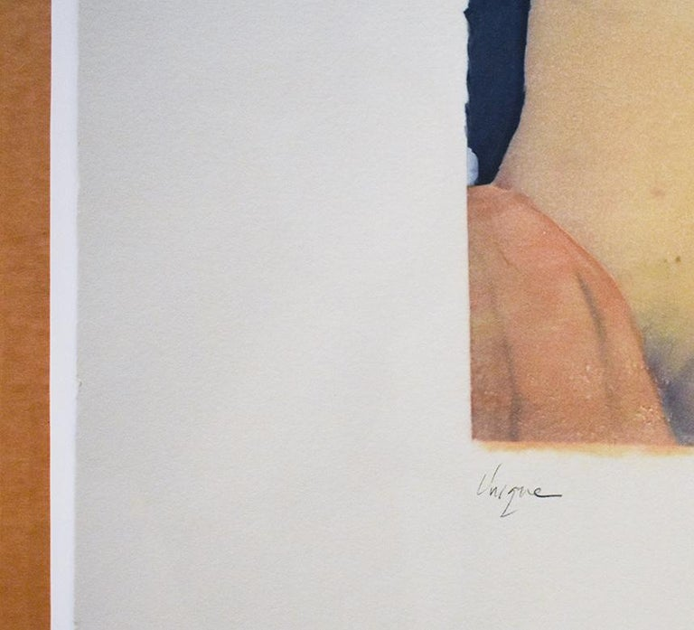 Untitled 31 (Figurative Drawing Polaroid Transfer of a Young Female Nude)  - Modern Art by Mark Beard