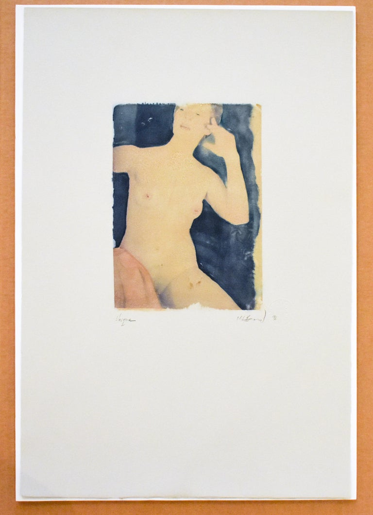 Untitled 31 (Figurative Drawing Polaroid Transfer of a Young Female Nude)  For Sale 1