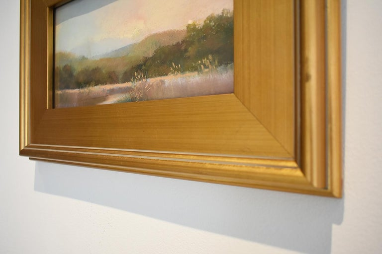 Iona Marsh (En Plein Air Landscape Pastel Drawing on Paper in a Gold Frame) For Sale 1