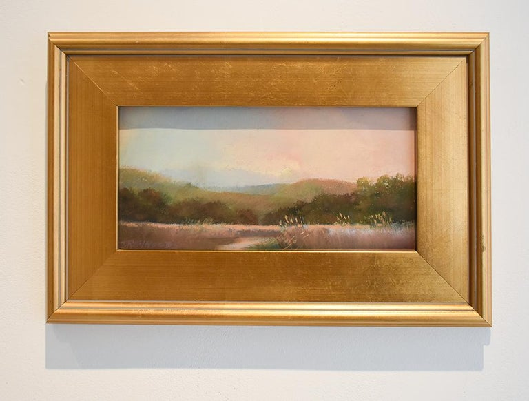 Iona Marsh (En Plein Air Landscape Pastel Drawing on Paper in a Gold Frame) - Art by Judy Reynolds