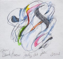 Untitled 1, For Dash Snow (Abstract Colored Pencil & Graphite Drawing on Paper)