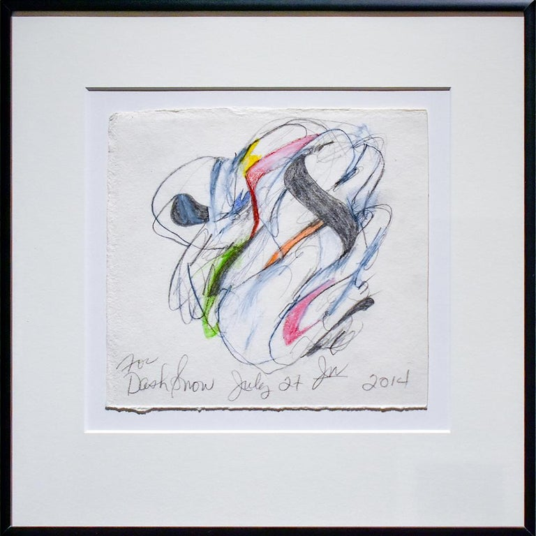 Untitled 1 For Dash Snow Abstract Colored Pencil Graphite Drawing On Paper