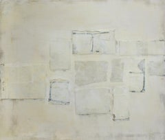 Untitled (Small Abstract Monochromatic Encaustic on Panel, Neutural White)