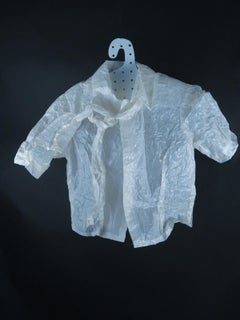Formal Shirt & Mandarin Collar (Figurative Glassine Paper Sculpture)