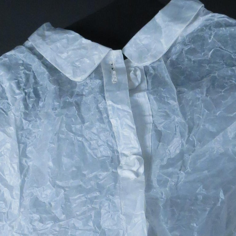 Child's Shirt (Figurative White Glassine Paper Sculpture of Clothing Garment) For Sale 1