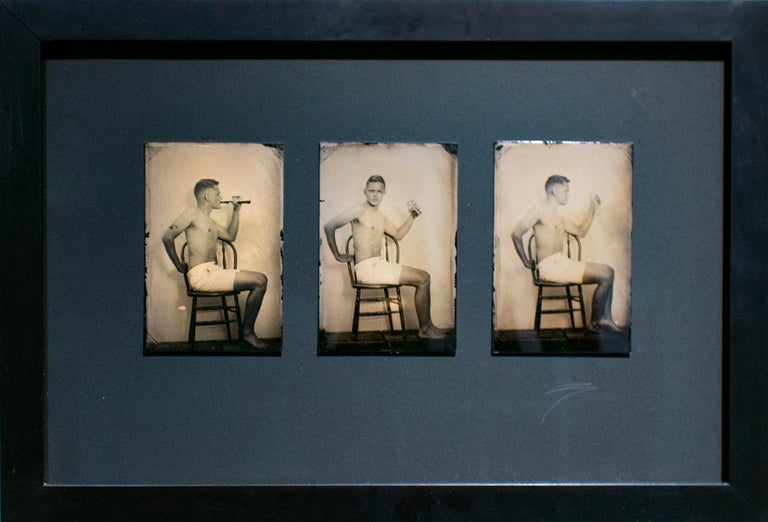 Pause that Refreshes (Vintage Tin Type Triptych with Coca Cola) - Photograph by David Sokosh