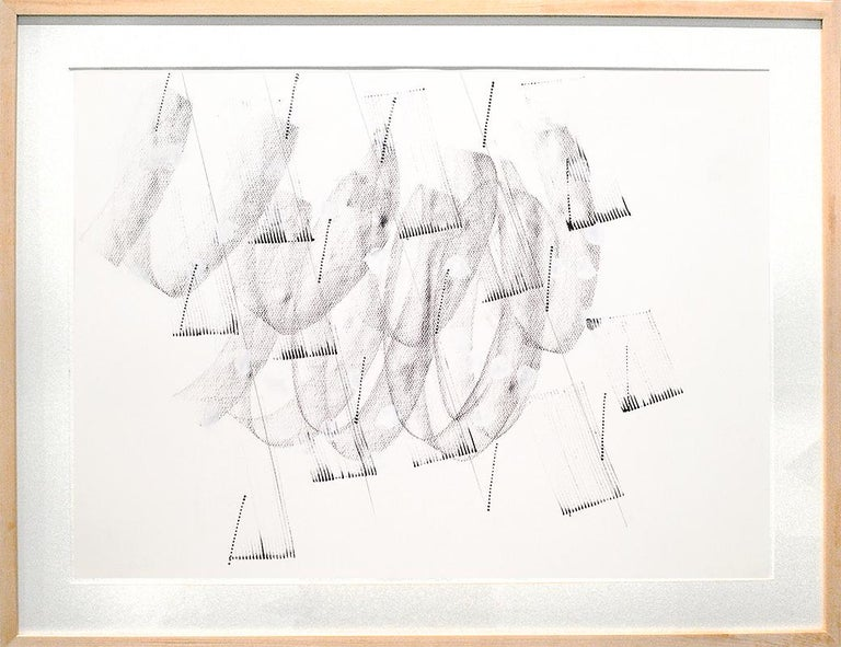 Contemporary, Minimalist Black and White Line Drawing  (Energy Clearing #13) - Art by Jeanette Fintz