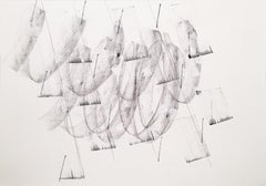 Contemporary, Minimalist Black and White Line Drawing  (Energy Clearing #13)