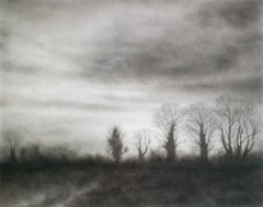 Anthem III (Realistic Black Charcoal Landscape Drawing of a Country Forest)