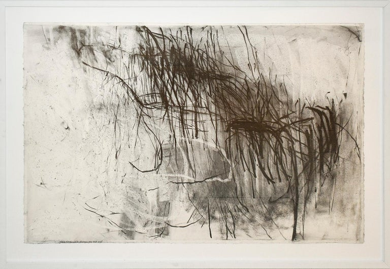 Olivebridge Drawing 30 (Abstract Charcoal Drawing in the Style of Cy Twombly) - Abstract Expressionist Mixed Media Art by Gary Buckendorf