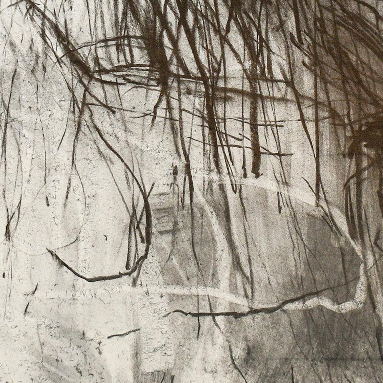 Olivebridge Drawing 30 (Abstract Charcoal Drawing in the Style of Cy Twombly) For Sale 5