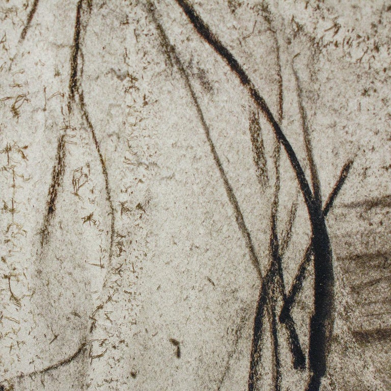 Olivebridge Drawing 30 (Abstract Charcoal Drawing in the Style of Cy Twombly) For Sale 6