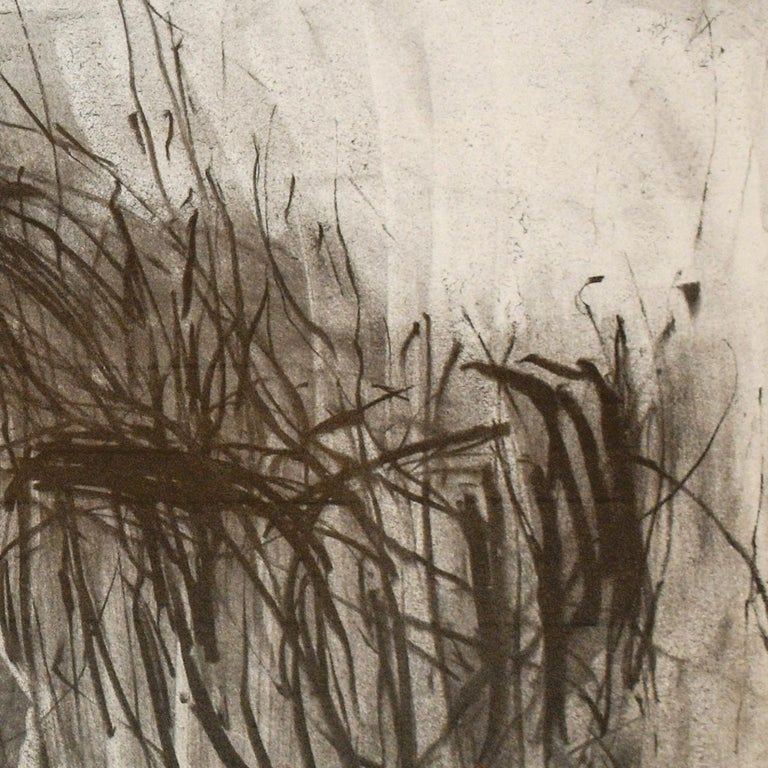 Olivebridge Drawing 30 (Abstract Charcoal Drawing in the Style of Cy Twombly) For Sale 4