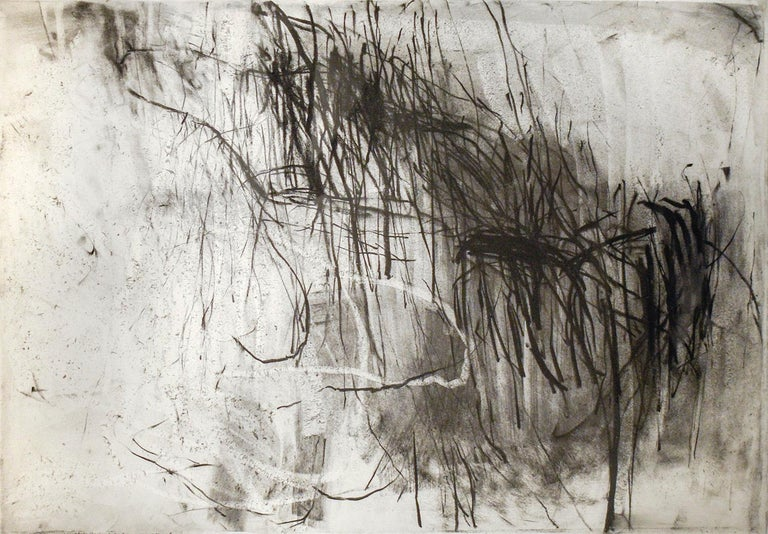 Olivebridge Drawing 30 (Abstract Charcoal Drawing in the Style of Cy Twombly) - Mixed Media Art by Gary Buckendorf