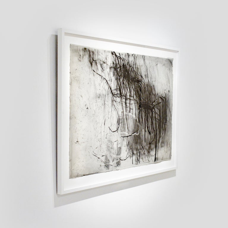 Olivebridge Drawing 30 (Abstract Charcoal Drawing in the Style of Cy Twombly) For Sale 1