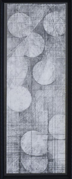 Moons of Jupiter (Study I): Black and White Abstract Geometric Graphite Drawing