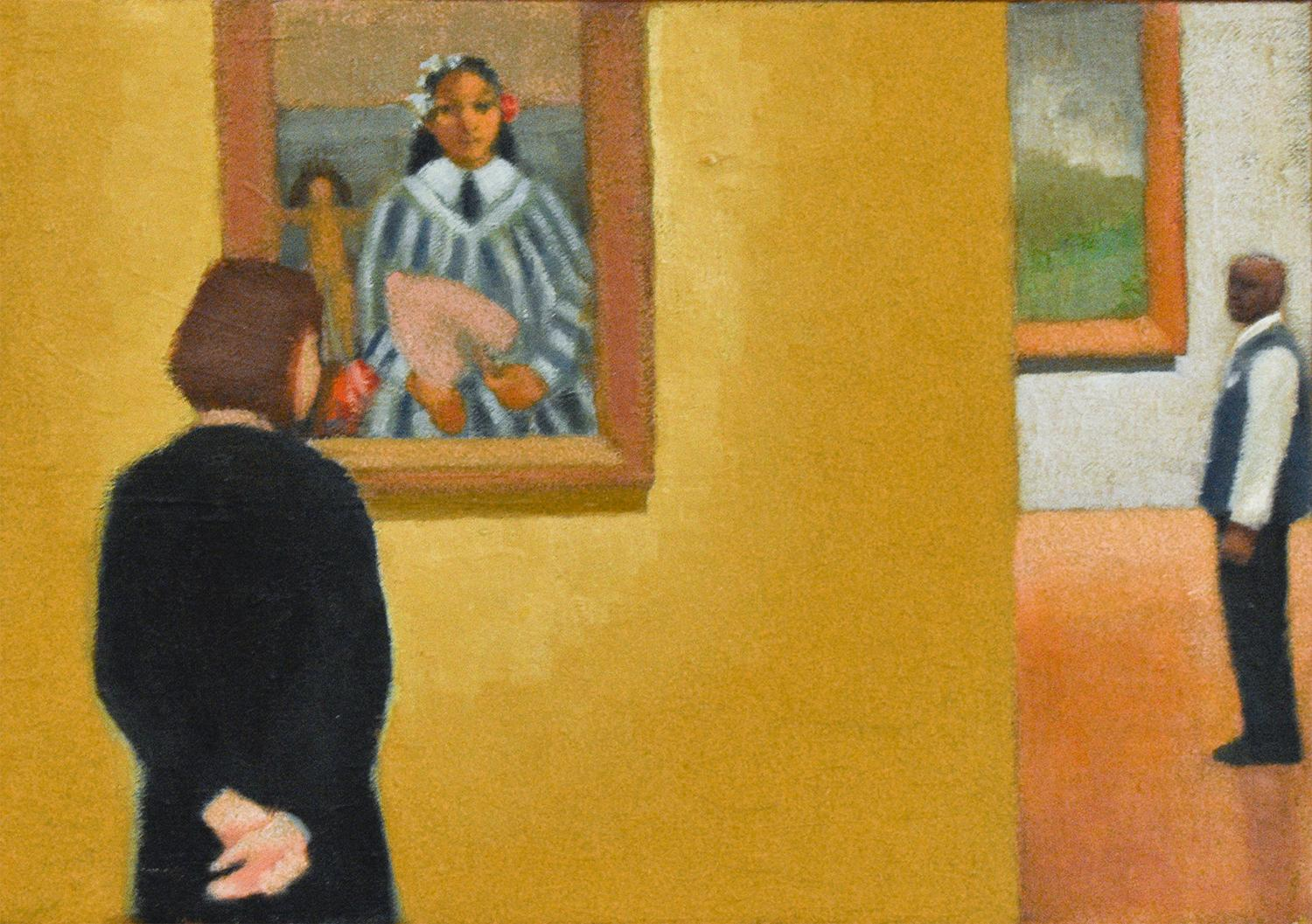 Gauguin's Girl (Figurative Painting of Women at the Chicago Art Institute)