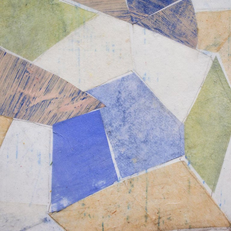 Little Blue, 2020 Encaustic & collage on thin edged board  12