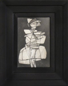 Infanta LVIX: Figurative Cubist Style Abstract Geometric Graphite Drawing