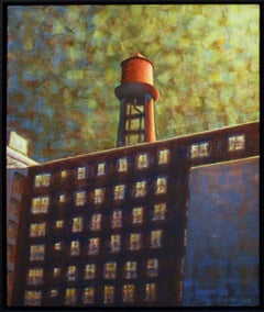 Chelsea Water Tower: Abstracted Cityscape Painting of New York City Skyline