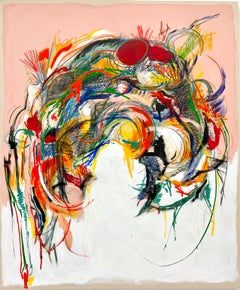 Maniacal Relaxation No. 2: Colorful Abstract Expressionist Painting on Canvas