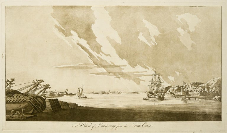 J. F. W. Des Barres Landscape Art - A View of Louisbourg from the Northeast