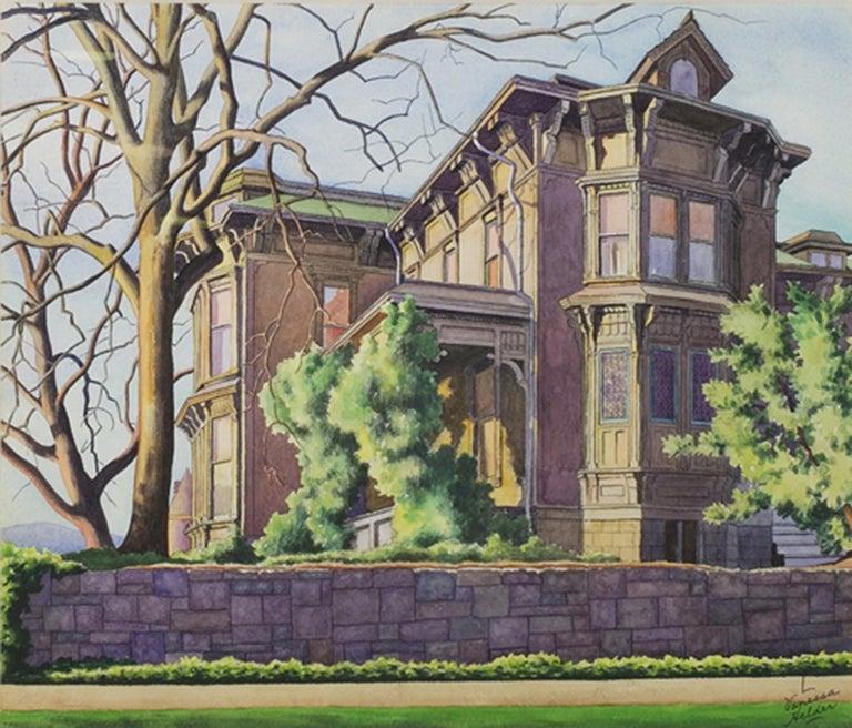 Zama Vanessa Helder Landscape Art - Old T. T. Minor House, First Hill, Seattle