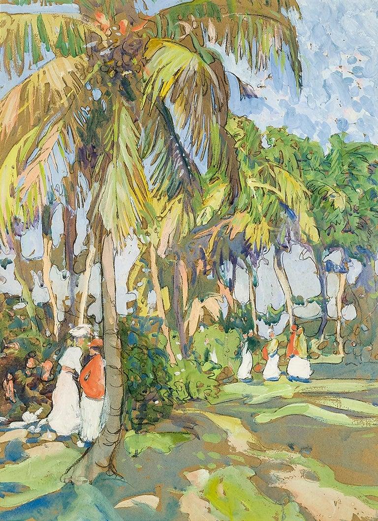Jane Peterson Landscape Art - Palm Grove