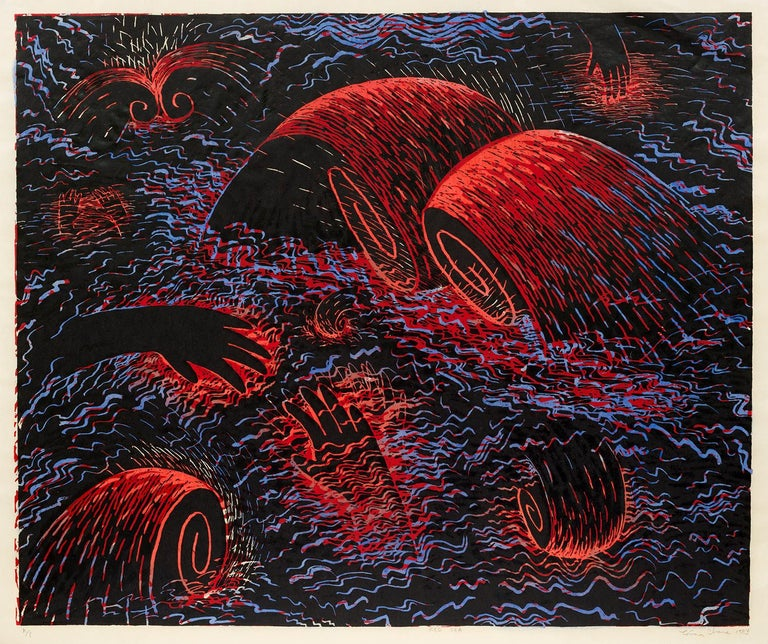 Red Sea  - Mixed Media Art by Louisa Chase