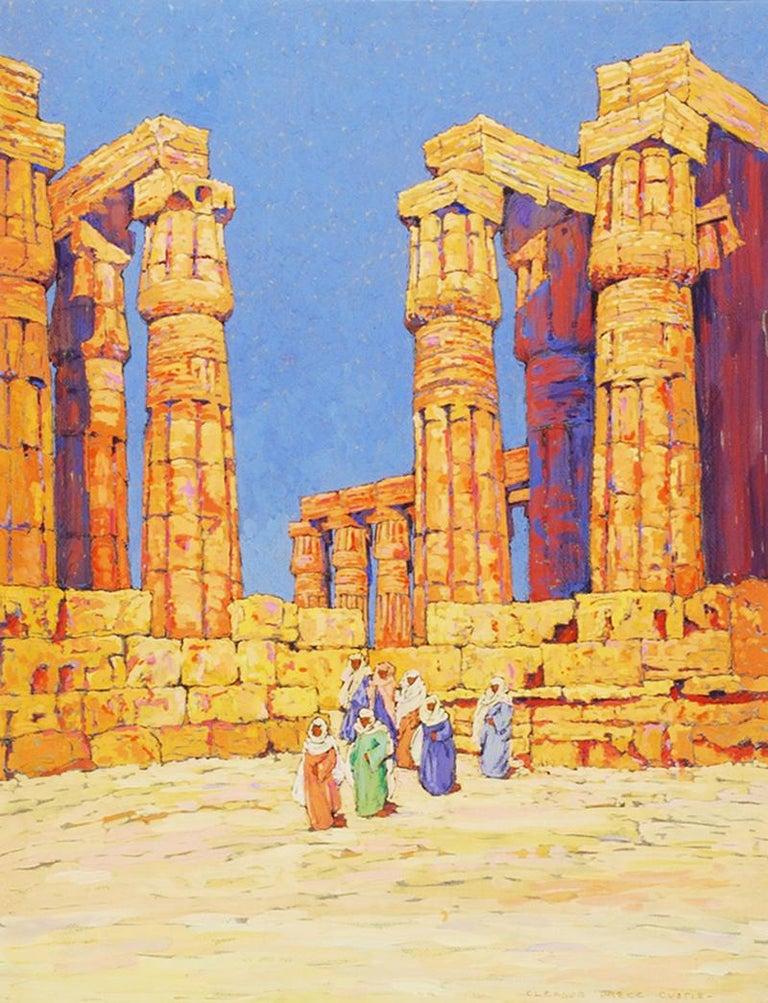 Eleanor Parke Custis Landscape Art - View of the Temple of Karnak, Egypt