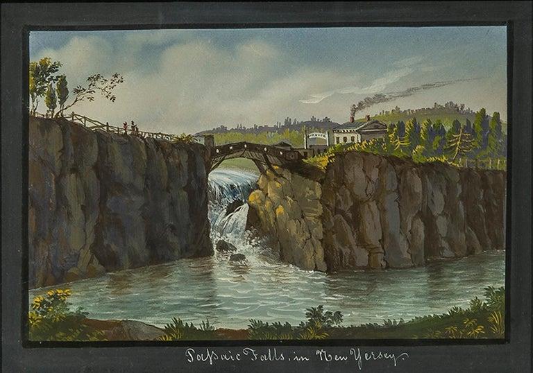 Nicolino V. Calyo Landscape Art - Passaic Falls in New Jersey