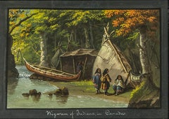 Wigwam of Indians in Canada