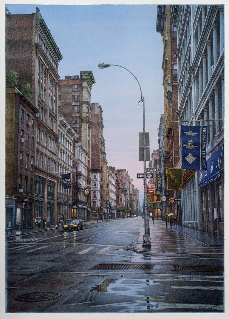 Frederick Brosen Landscape Art - Grand Street and Broadway