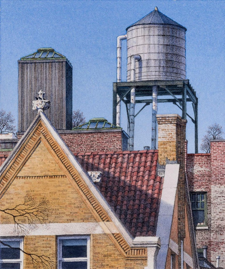 Frederick Brosen Landscape Art - 77th Street & West End Ave.