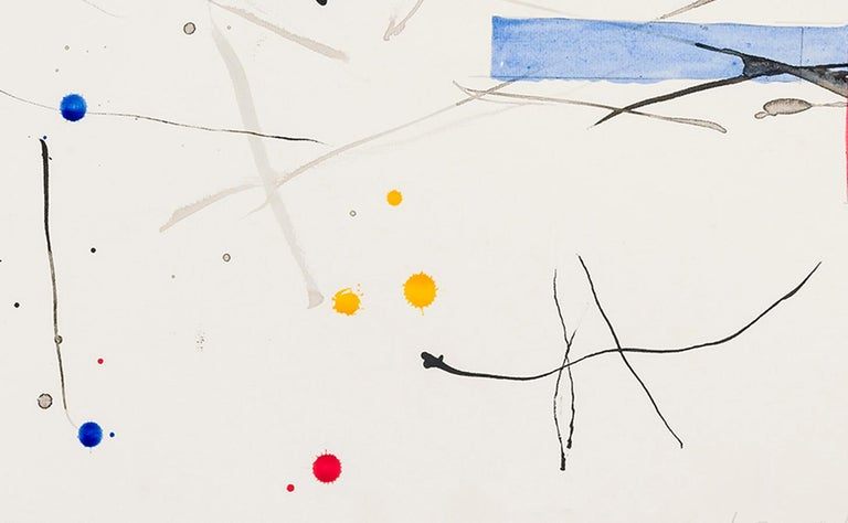 Untitled  - Beige Abstract Drawing by Louisa Chase