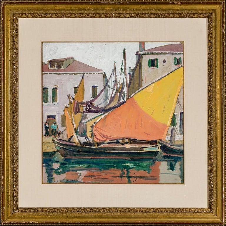 Venice  - Brown Landscape Art by Jane Peterson