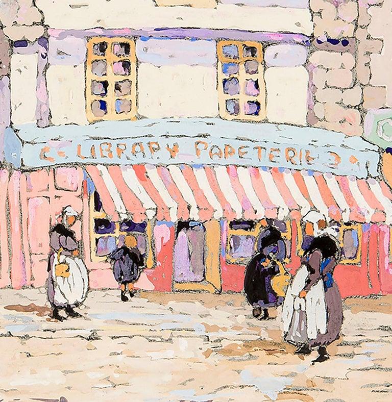 French Street Scene  - Art by Eleanor Parke Custis