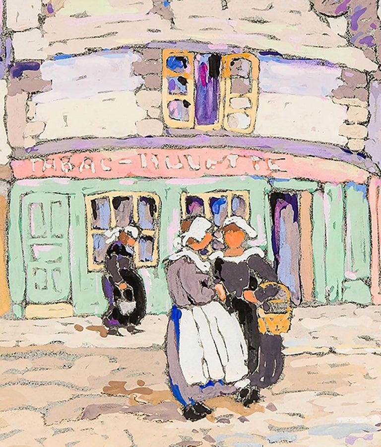 French Street Scene  - American Realist Art by Eleanor Parke Custis