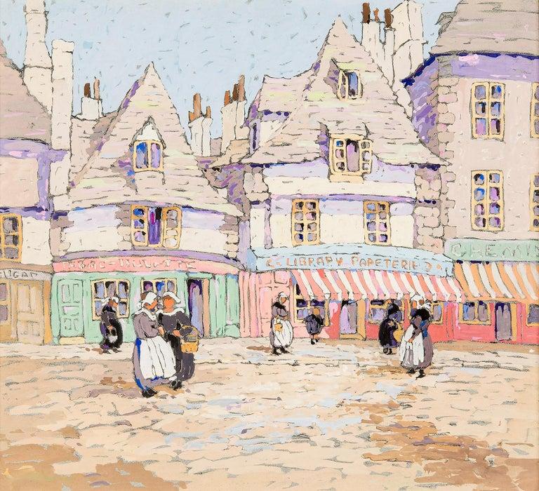 Eleanor Parke Custis Landscape Art - French Street Scene