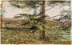 Tree and Fence, East Hartford, Connecticut (New England Landscape)