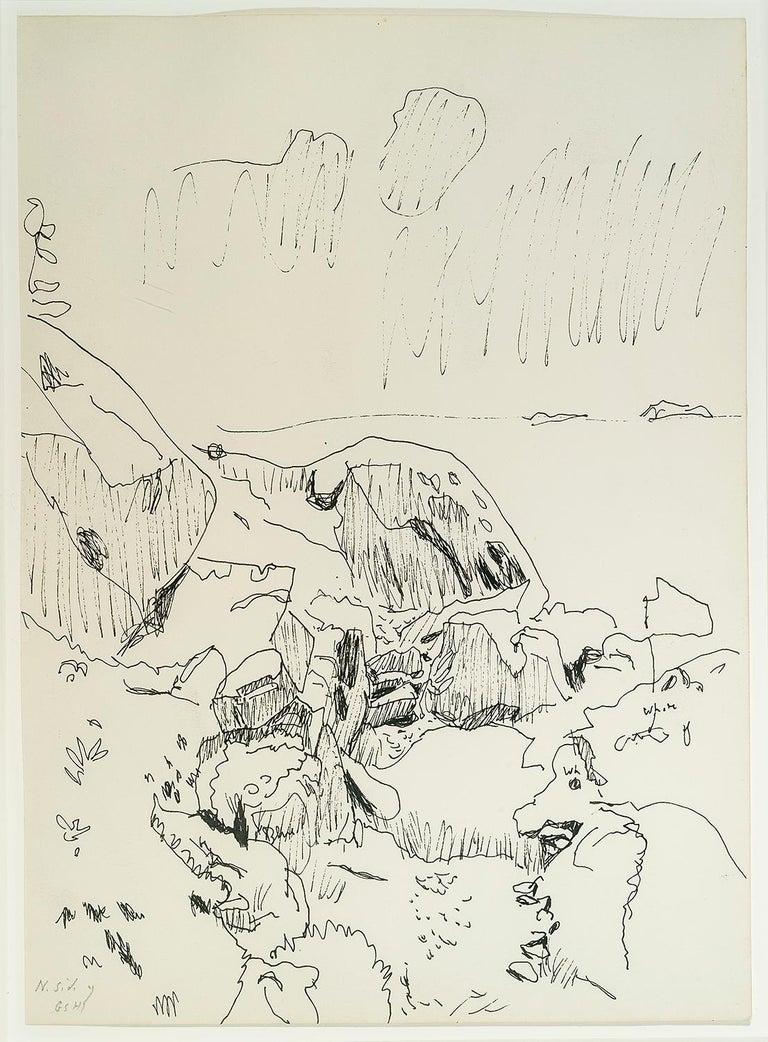 Fairfield Porter Landscape Art - [North Side of Great Spruce Head Island]