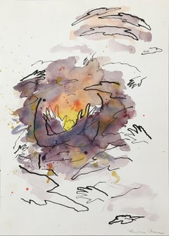 Untitled (Sunset with Hands)