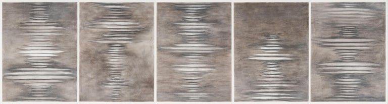 Elizabeth Turk Abstract Drawing - The Air We Breathe 2, Suite of 5