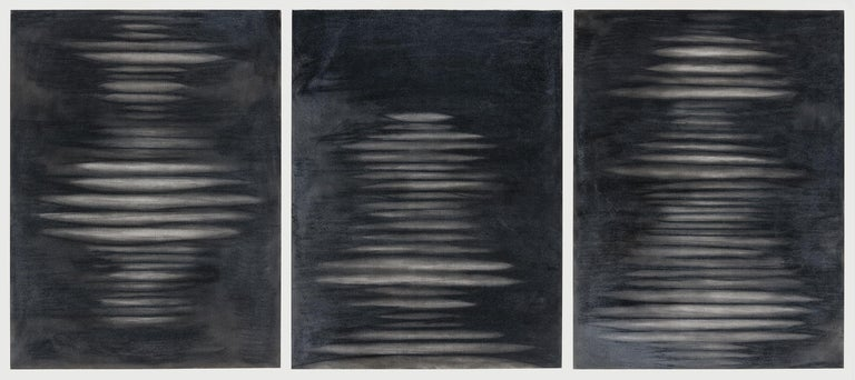 Elizabeth Turk Abstract Drawing - The Air We Breathe 1, Suite of 3