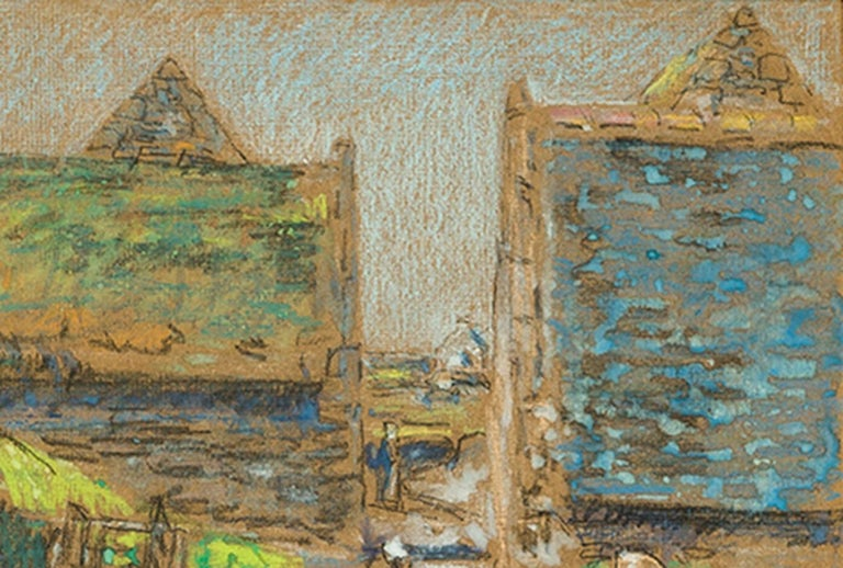 Brittany Barns, Perros-Guirec - American Impressionist Art by Childe Hassam
