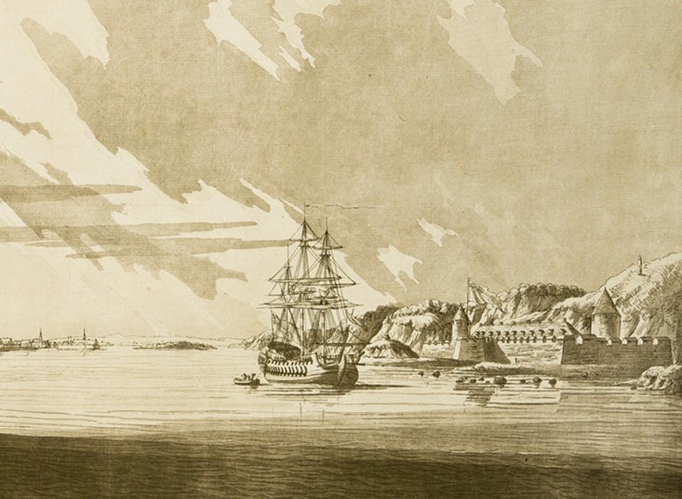 A View of Louisbourg from the Northeast  - Art by J. F. W. Des Barres